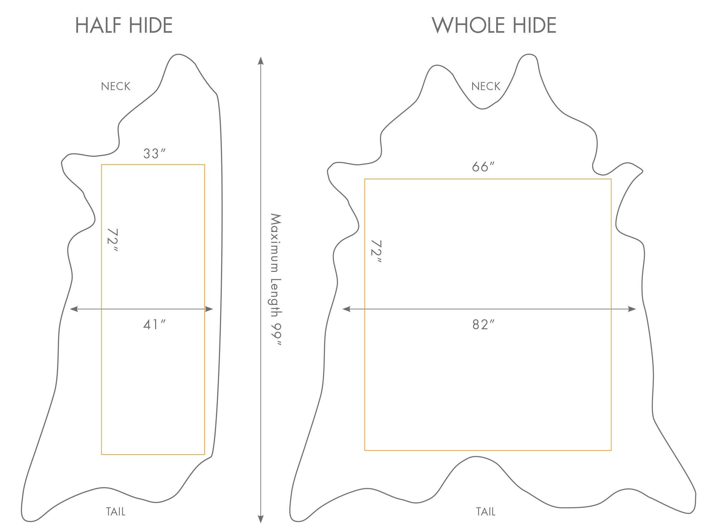 average hide size